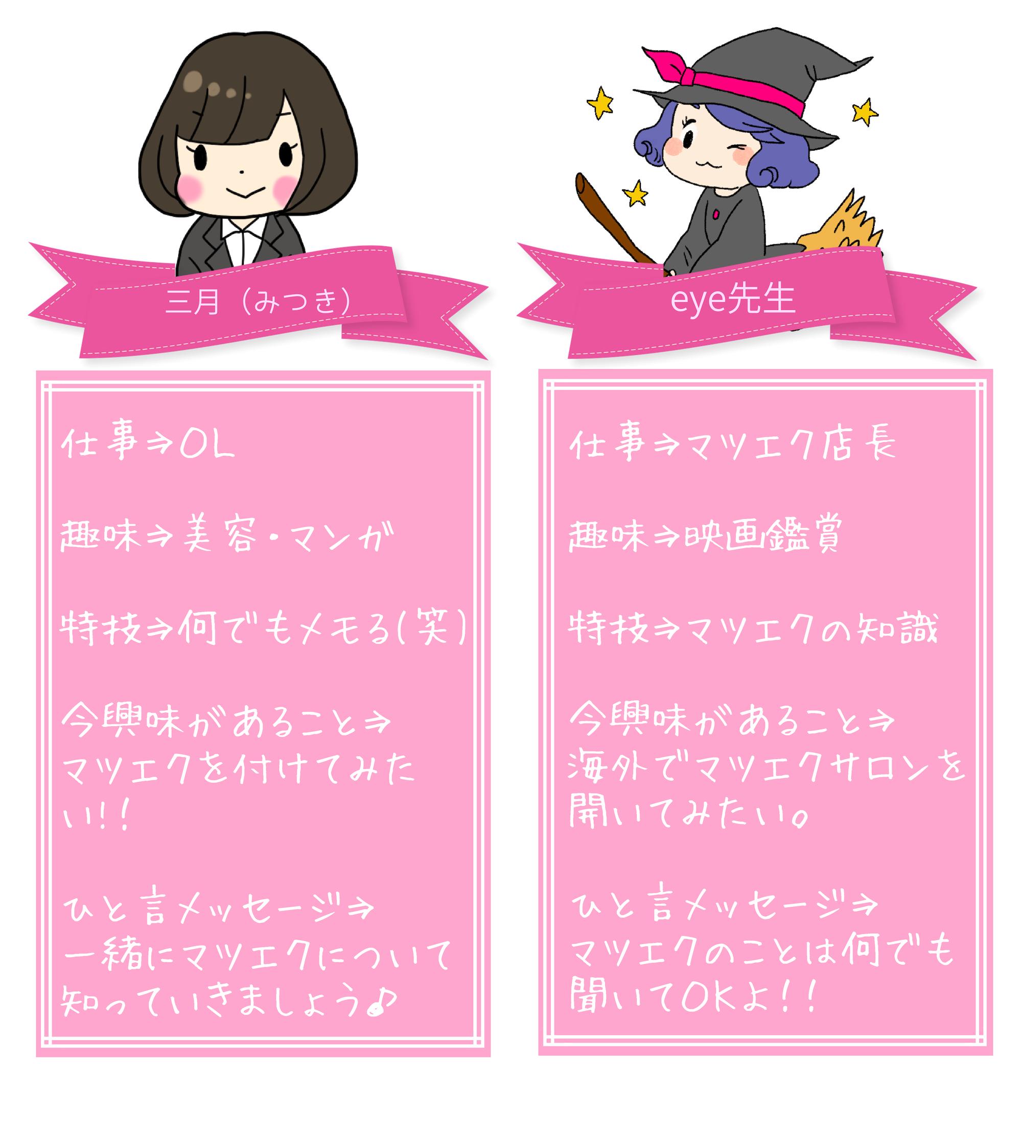 マツエクサイト キャラクター自己紹介